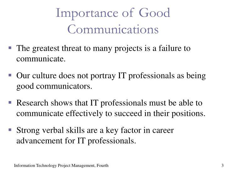 Importance of Good Communications