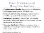 project communications management processes