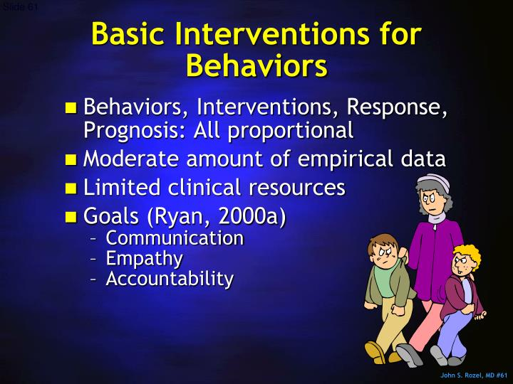 Basic Interventions for Behaviors