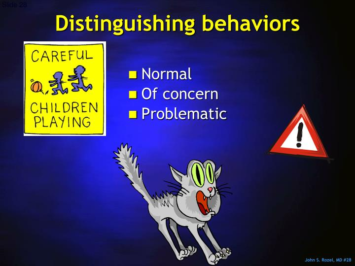 Distinguishing behaviors