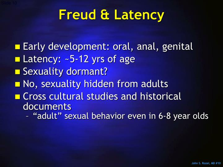 Freud & Latency