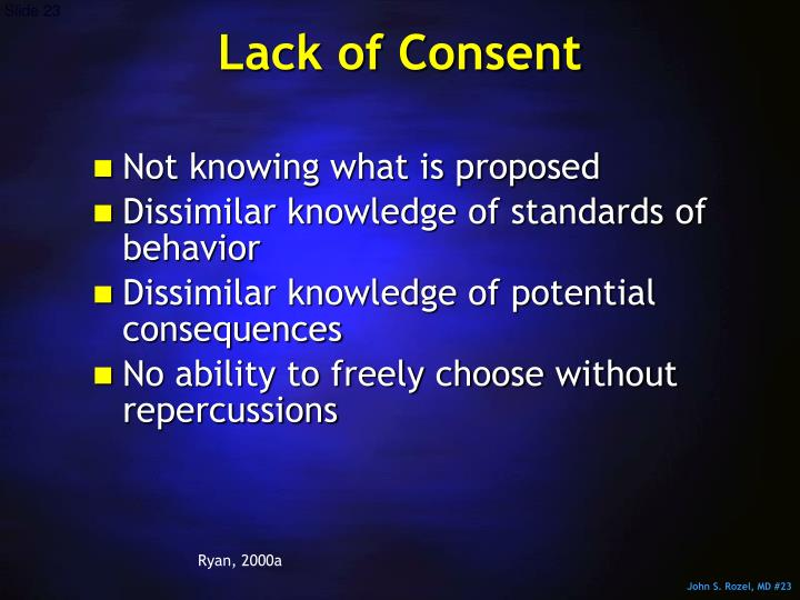 Lack of Consent