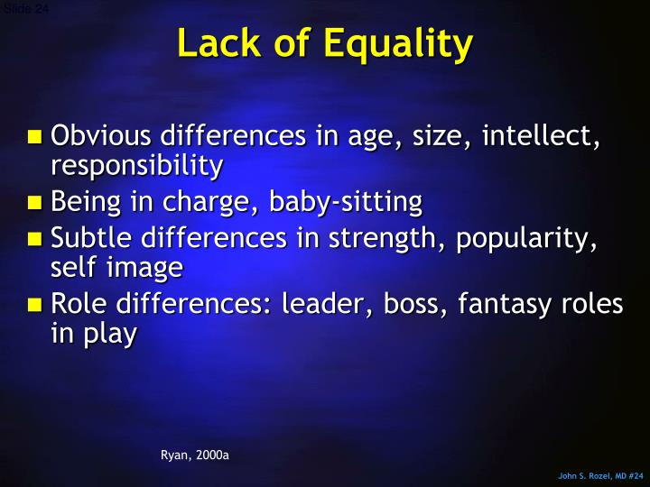 Lack of Equality
