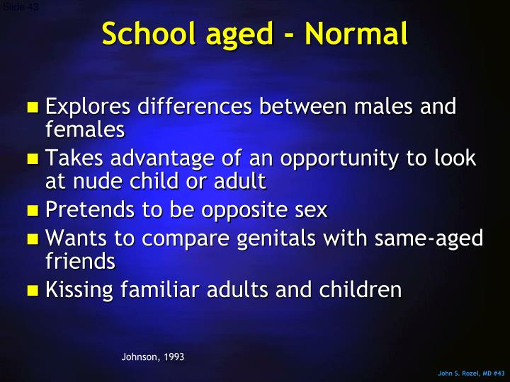 School aged - Normal