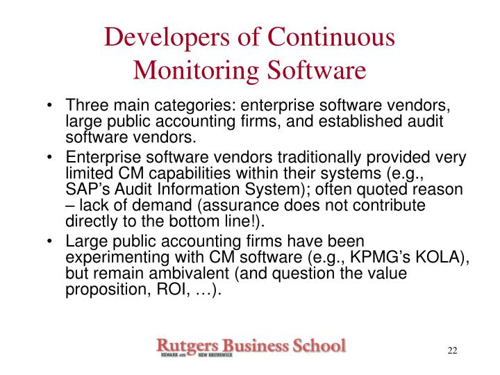Developers of Continuous Monitoring Software