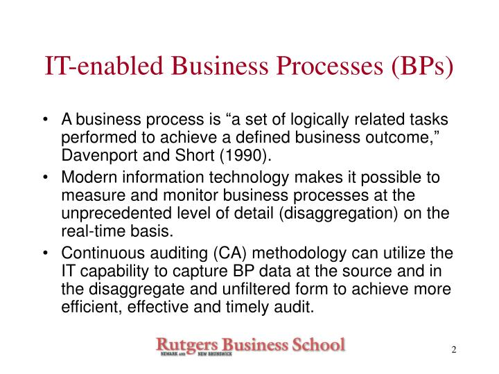 It enabled business processes bps
