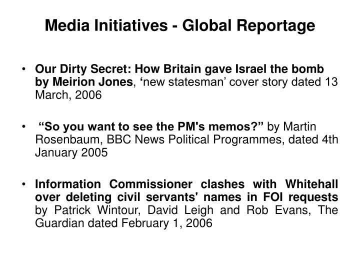 Media Initiatives - Global Reportage