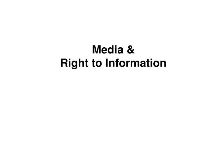 Media &