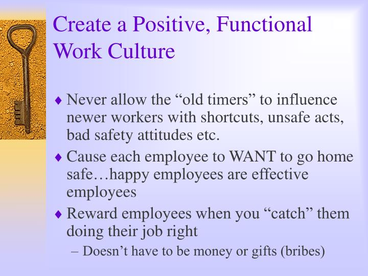 Create a Positive, Functional Work Culture