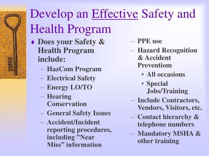 Does your Safety & Health Program include: