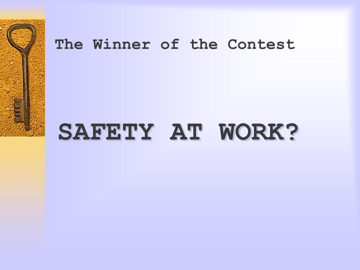 The Winner of the Contest