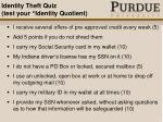 identity theft quiz test your identity quotient