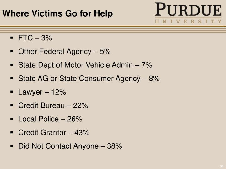 Where Victims Go for Help