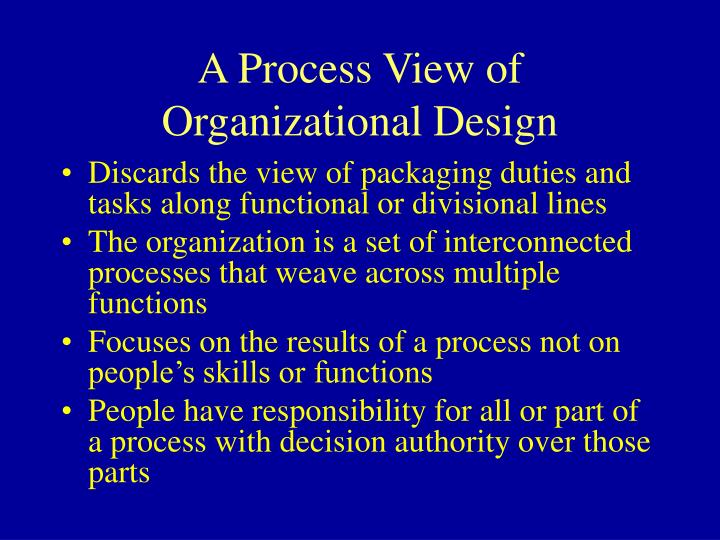 A Process View of