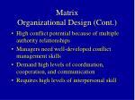 matrix organizational design cont3