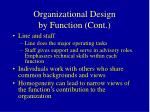 organizational design by function cont2
