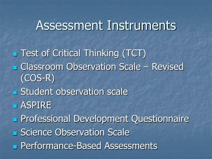 Assessment Instruments
