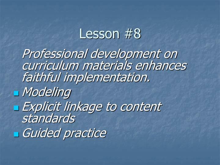 Lesson #8