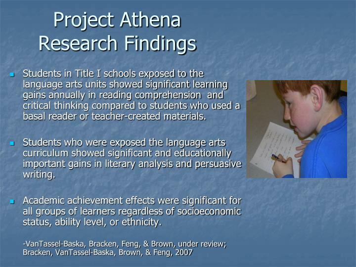 Project Athena Research Findings