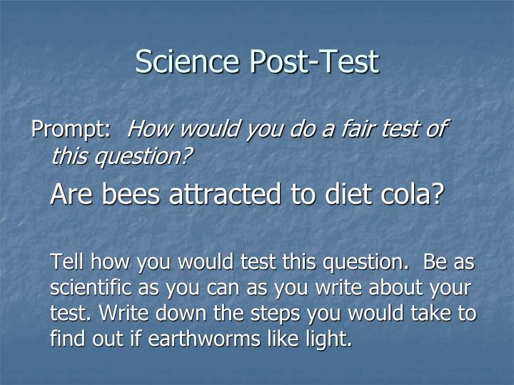 Science Post-Test