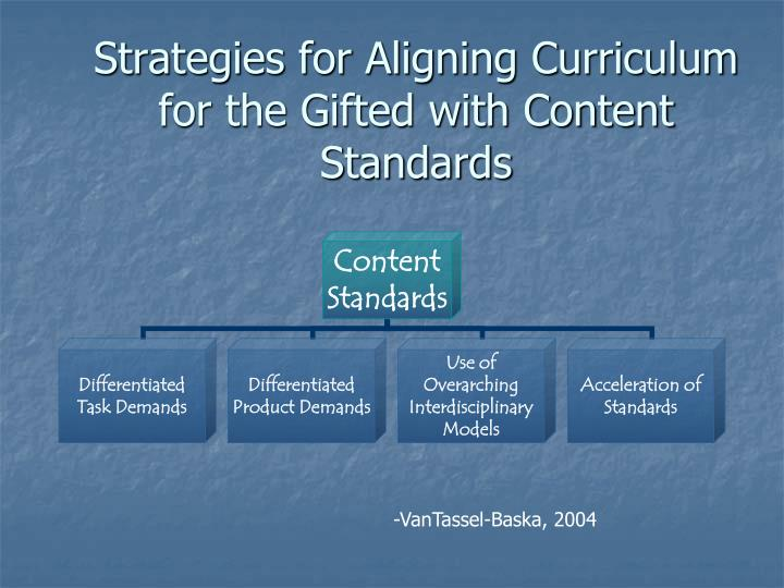 Strategies for Aligning Curriculum for the Gifted with Content Standards