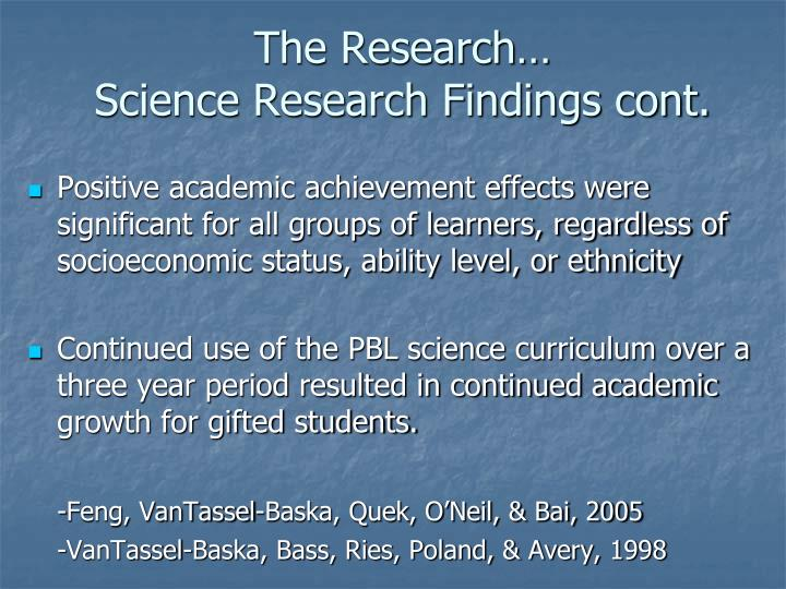 The Research…