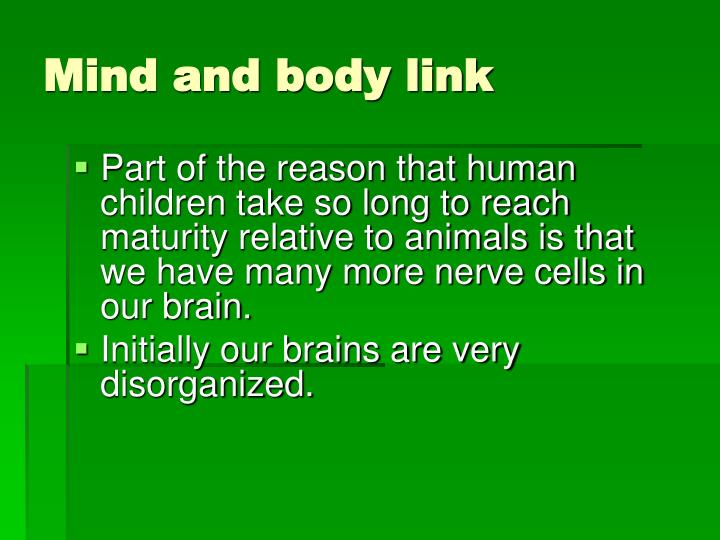 Mind and body link