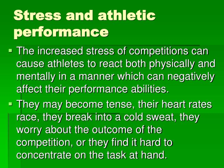 Stress and athletic performance