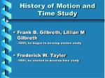 history of motion and time study