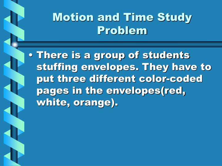 Motion and Time Study Problem