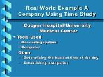 real world example a company using time study1