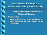 real world example a company using time study2