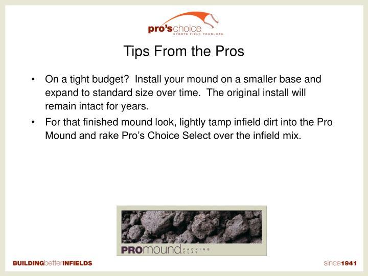 Tips From the Pros