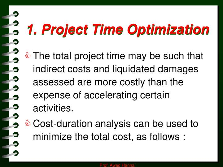 1. Project Time Optimization