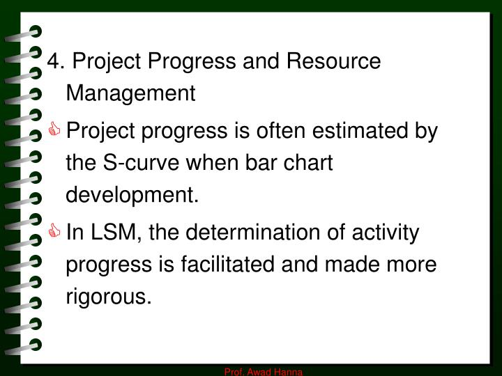 4. Project Progress and Resource Management
