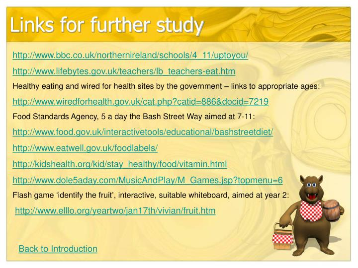 Links for further study