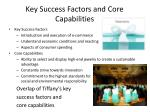 key success factors and core capabilities