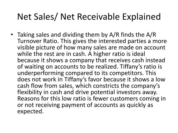 Net Sales/ Net Receivable Explained