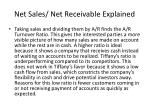 net sales net receivable explained