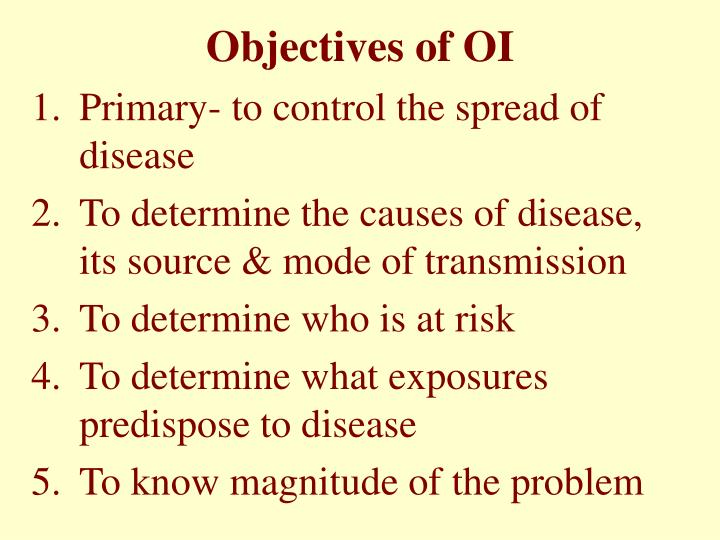 Objectives of OI