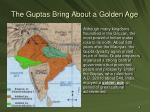 the guptas bring about a golden age