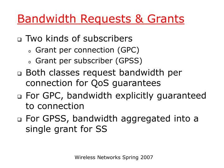 Bandwidth Requests & Grants