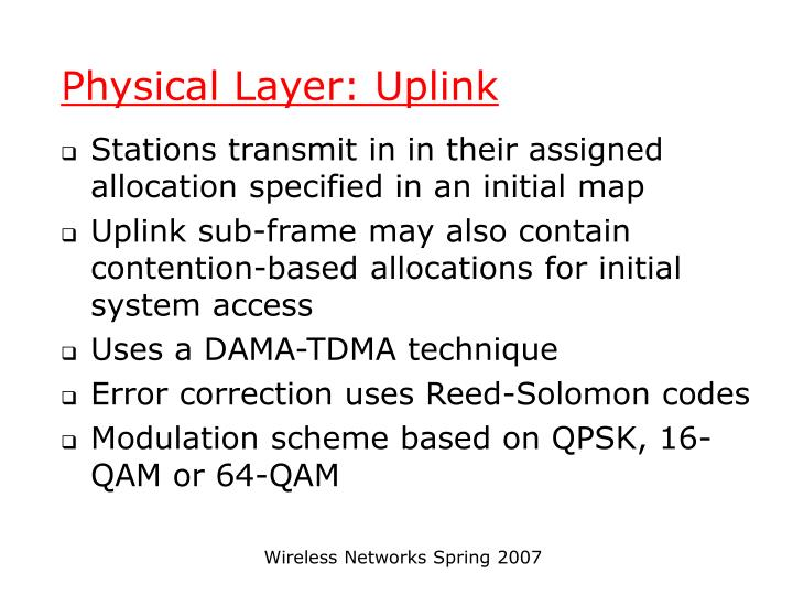 Physical Layer: Uplink