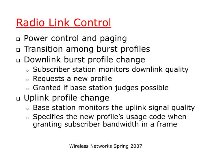 Radio Link Control