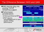 the difference between nas and san1