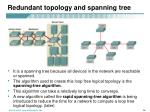 redundant topology and spanning tree1