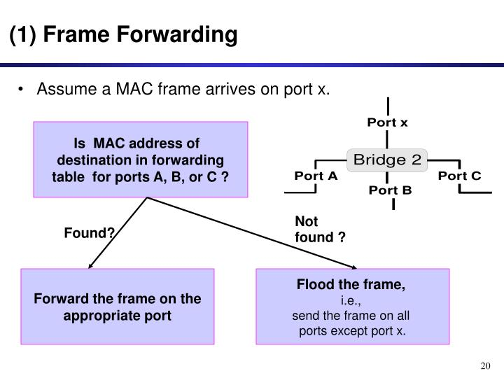 (1) Frame Forwarding