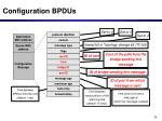 configuration bpdus