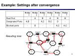 example settings after convergence
