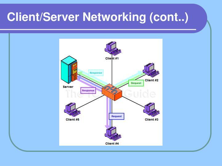 Client/Server Networking (cont..)